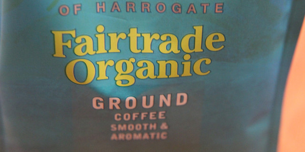 a pack of organic coffee