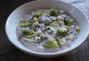 Image of a bowl of Strawberry & Kiwi Quinoa Protein Pudding