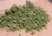 a pile of wheatgrass powder