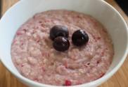 a bowl of summer fruit porridge