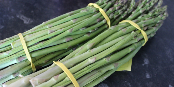 a bunch of asparagus from the market