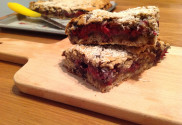 freshly made berry sandwich bars
